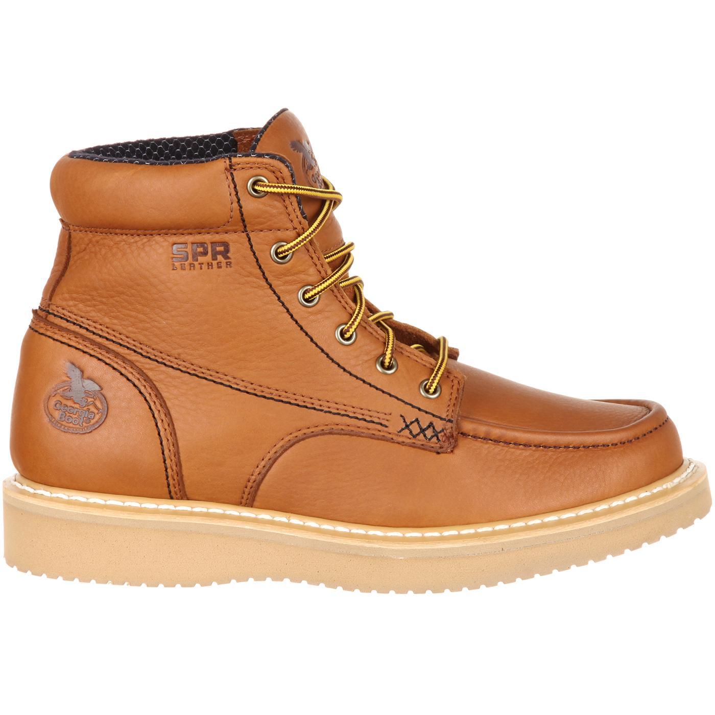 cf151c4284a Georgia Boot  Men s Moc-toe Wedge Work Boot