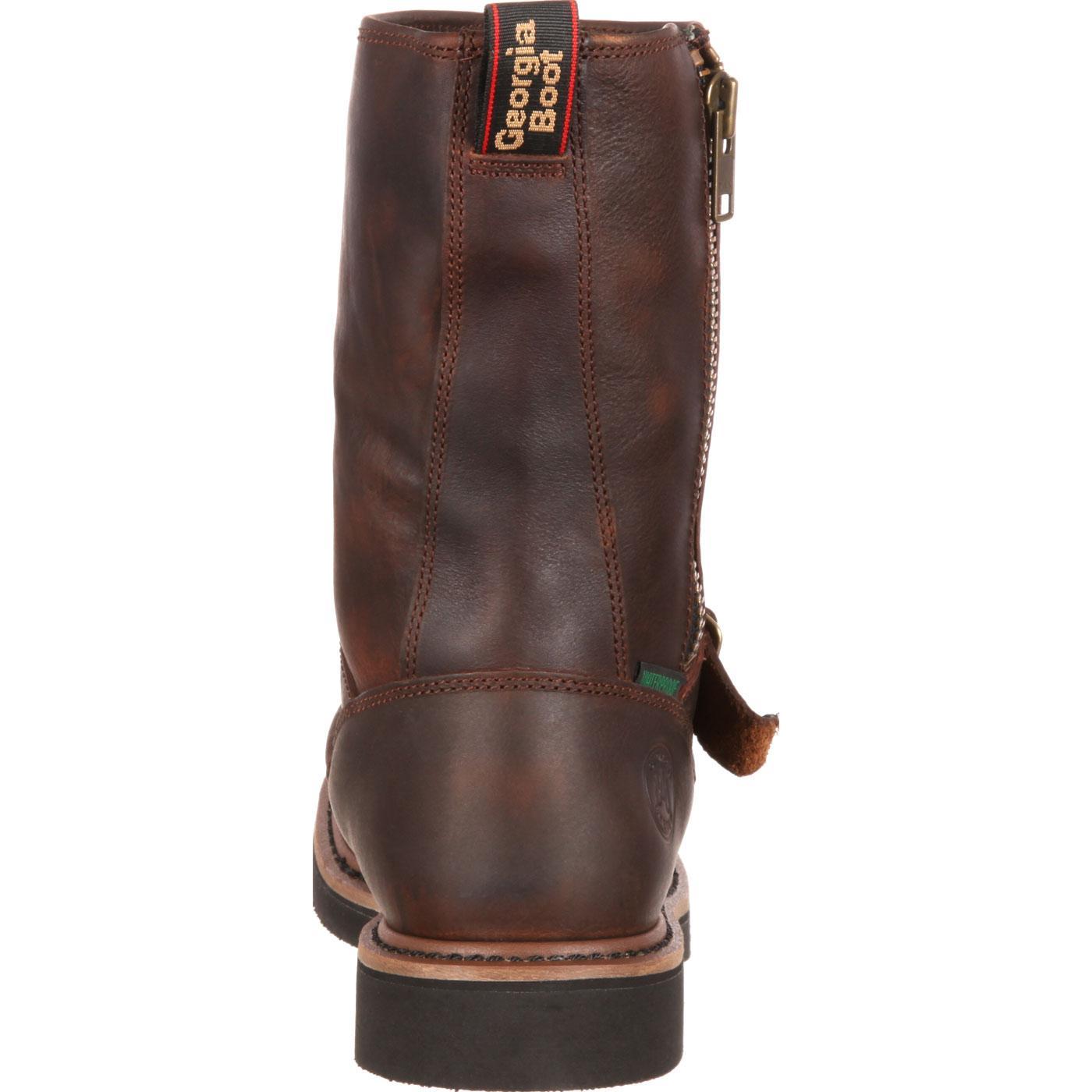 5199b455a7a Georgia Side Zip Wellington Waterproof Work Boots, #G4124