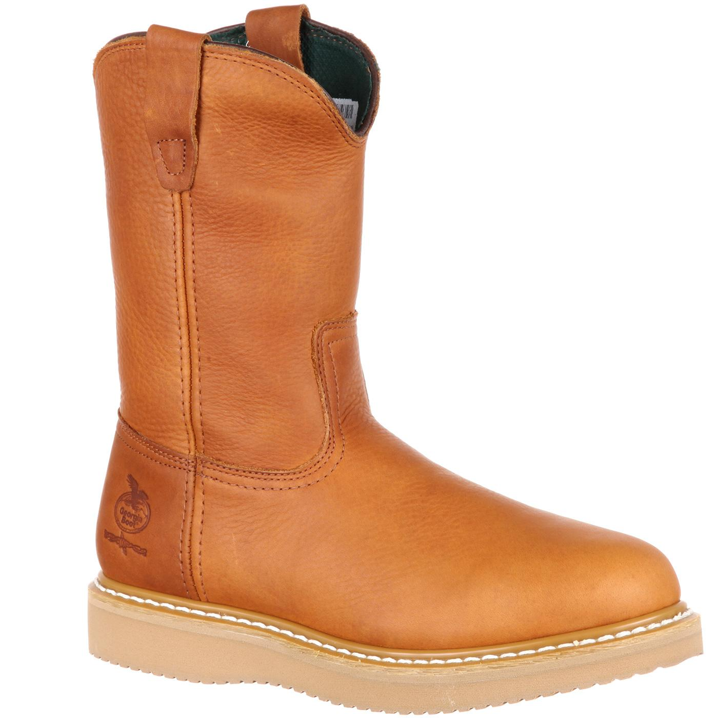 boot s 11 quot steel toe pull on work boots with