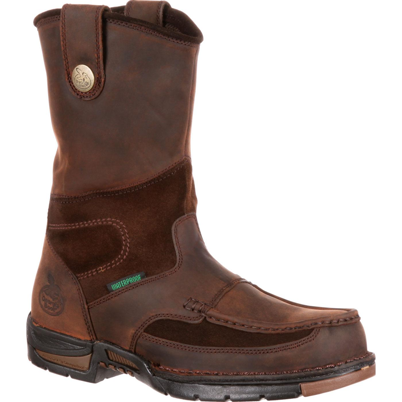 Georgia Athens Waterproof Wellington Work Boot, Style G4403