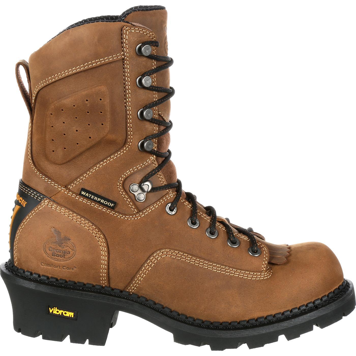 Georgia Boot: Comfort Core Logger Waterproof Work Boots