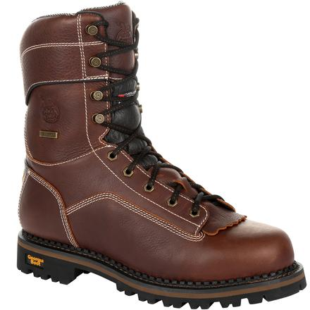 Georgia Boot AMP LT Logger Waterproof Insulated Work Boot, , large