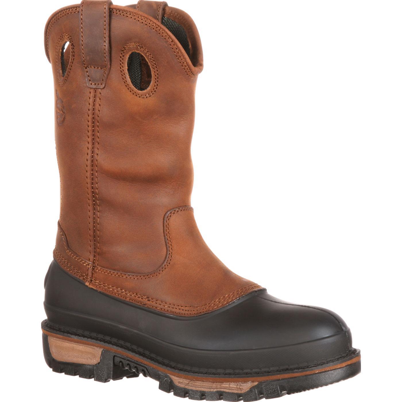 Georgia Boot Men S 11 Quot Muddog Pull On Work Boots G4434
