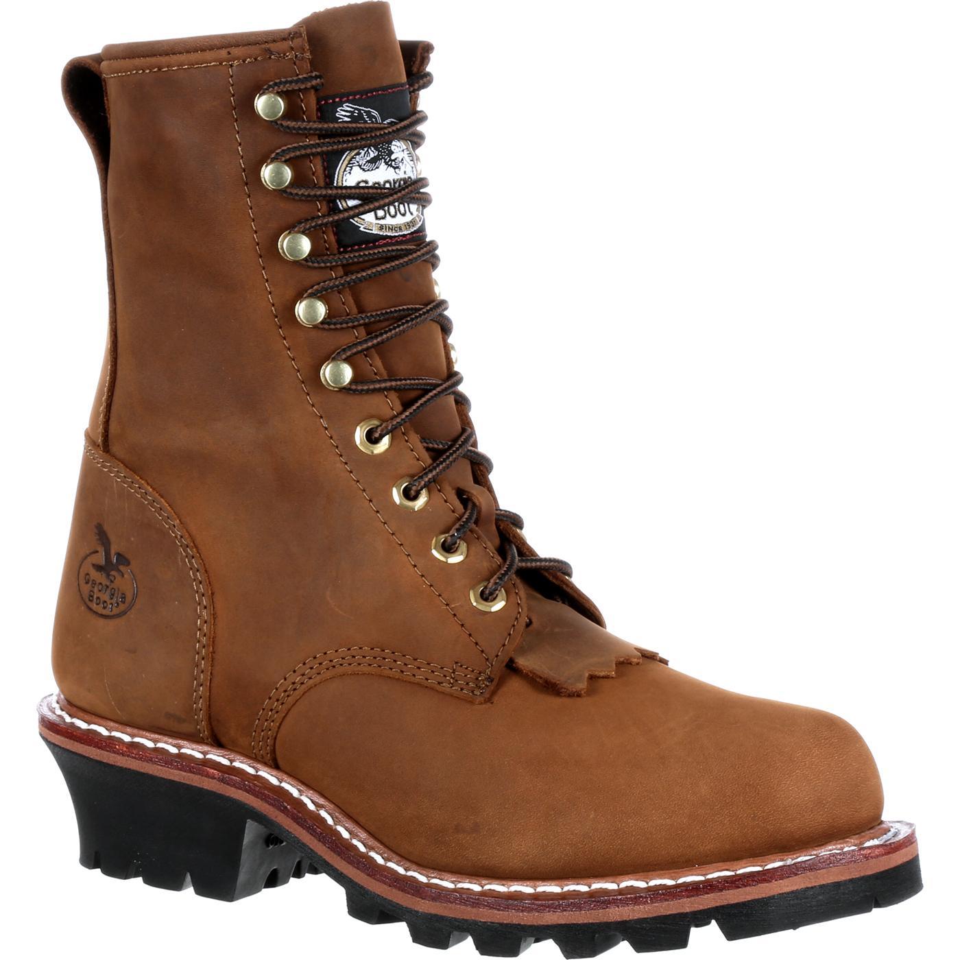 Men S Georgia Boot 8 Inch Logger Work Boot Gb0015ia