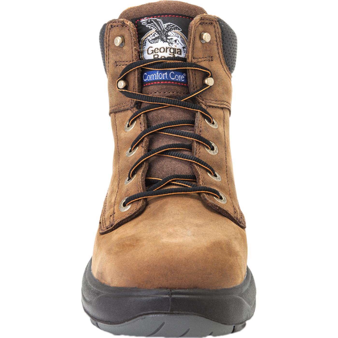 work comfortable s waterproof toe steel composite yeehawcowboy comfort comforter extralarge mens core logger products men georgia boots