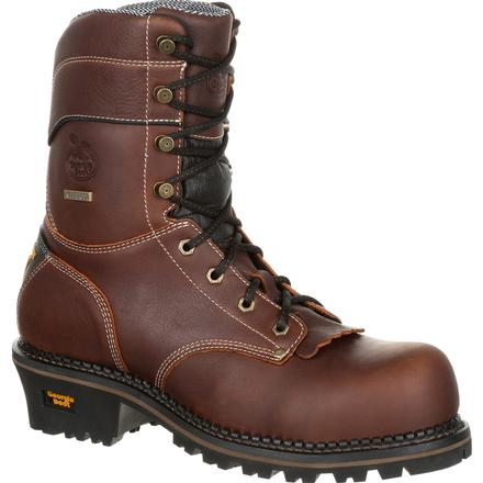 Georgia Boot AMP LT Logger Waterproof Work Boot, , large