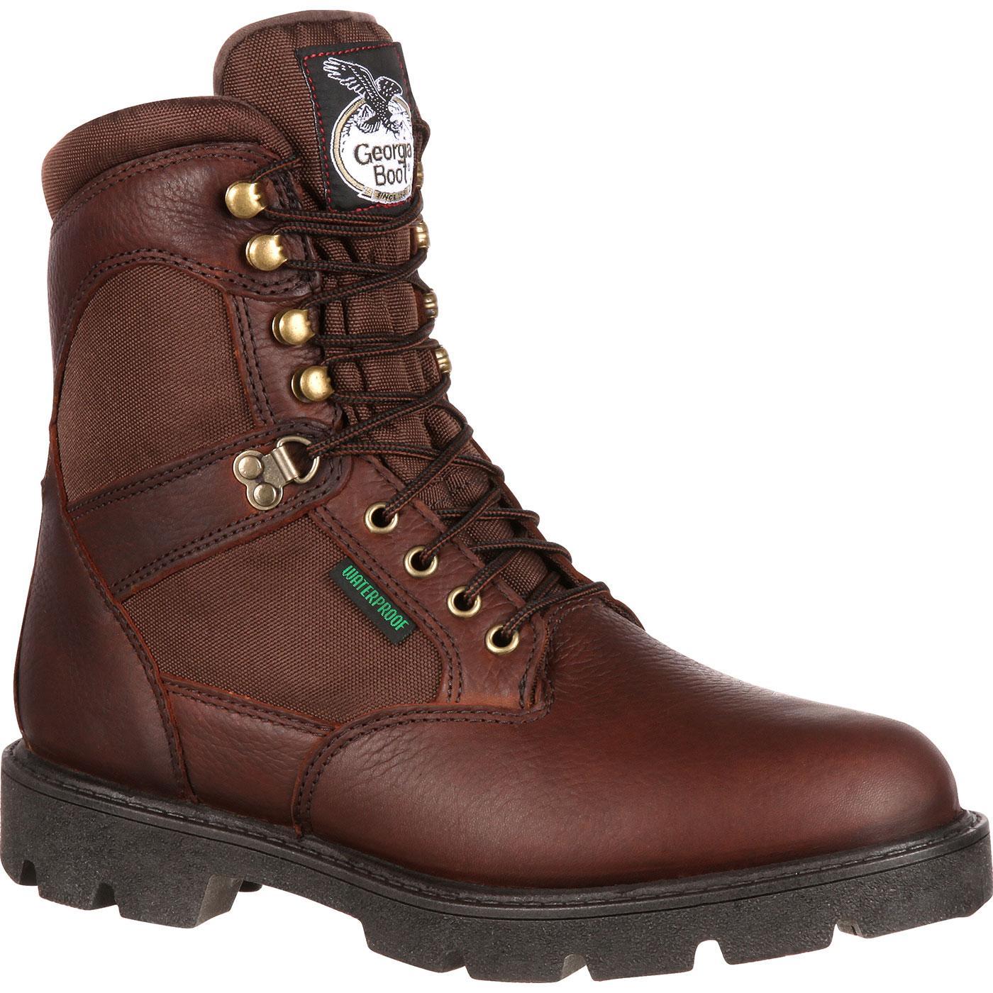Georgia Homeland Steel Toe Waterproof Work Boots, #G107