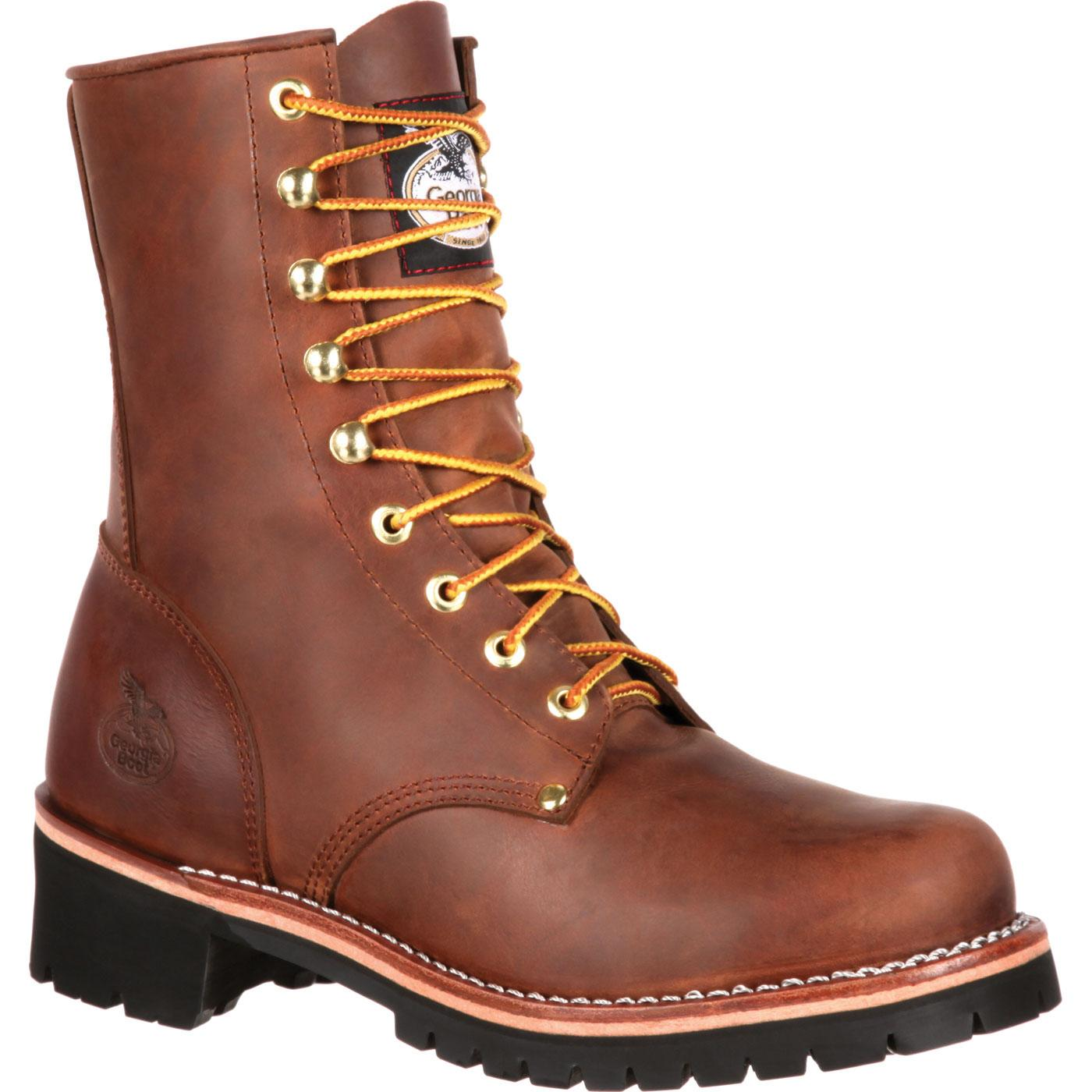 Georgia Boot Men S Brown Logger Work Boot Style Gb00048