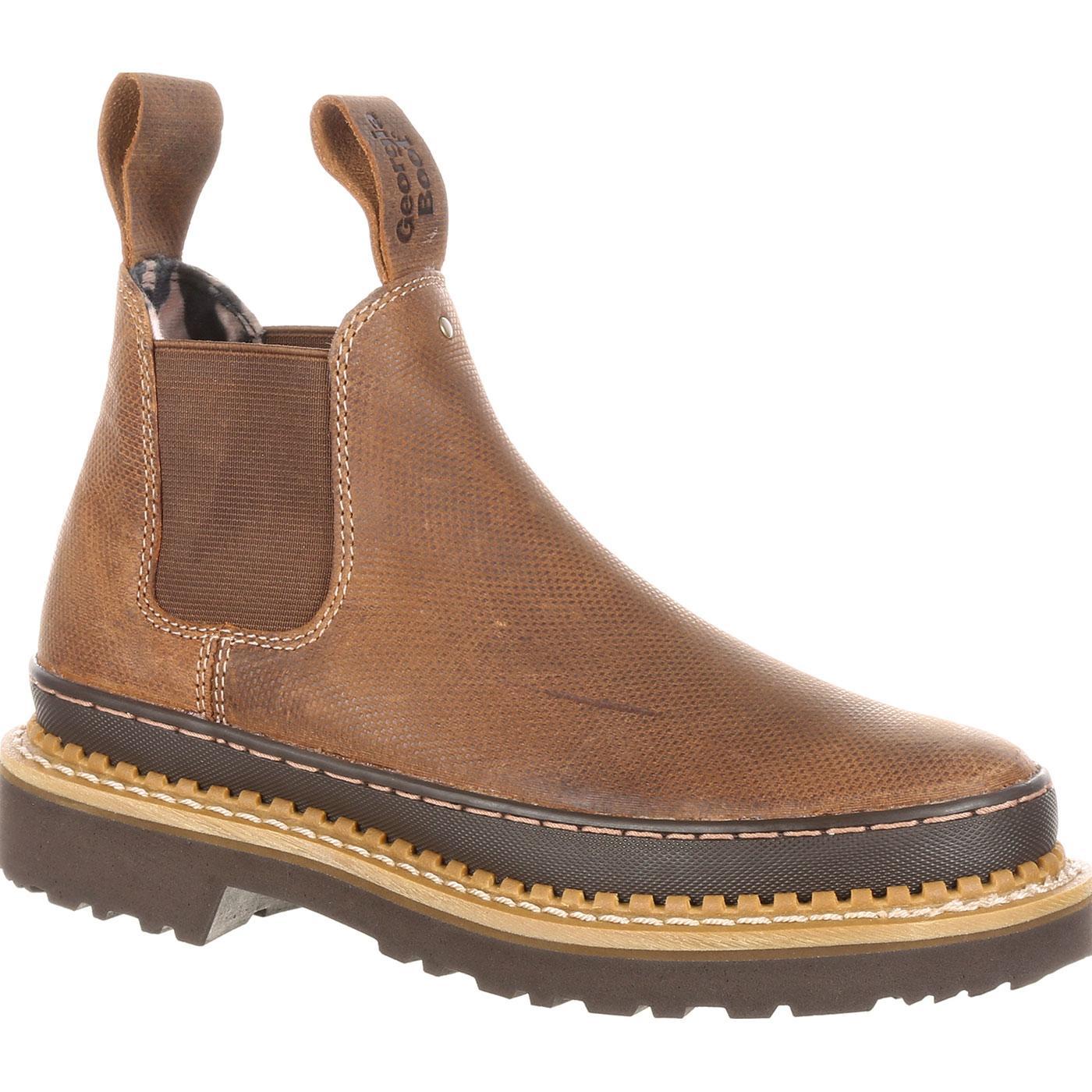 Georgia Giant Women s Brown Leather High Romeo Slip-On Shoe 6f932081ae