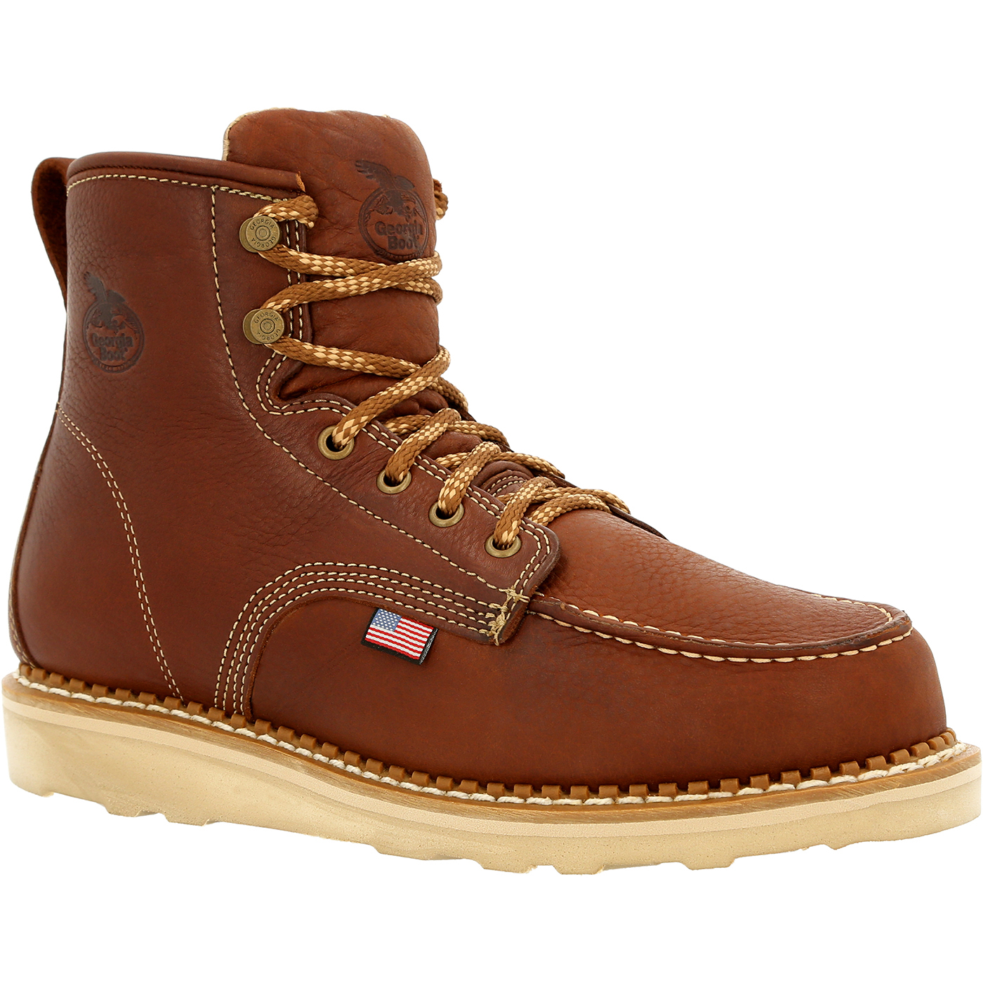 851939662ee Georgia Boot USA Wedge Moc Toe Work Boot