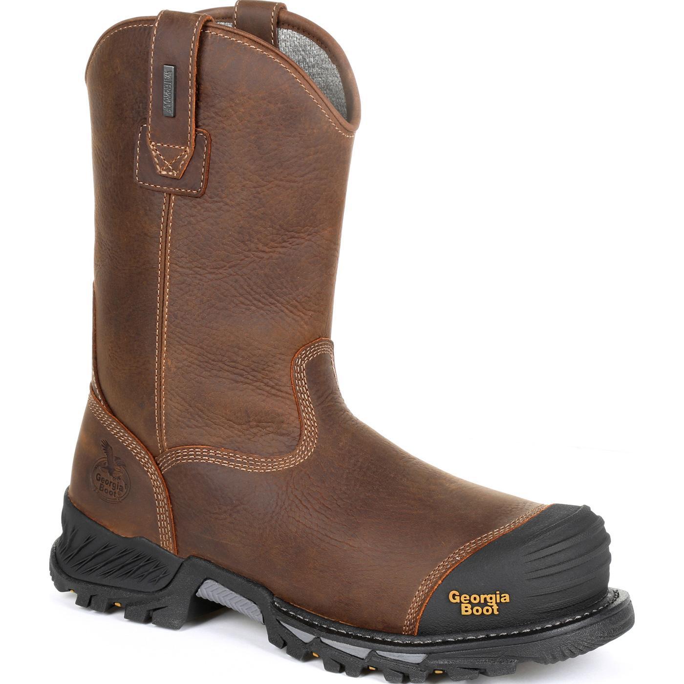 719757252de Georgia Boot Rumbler Composite Toe Waterproof Pull-on Work Boot