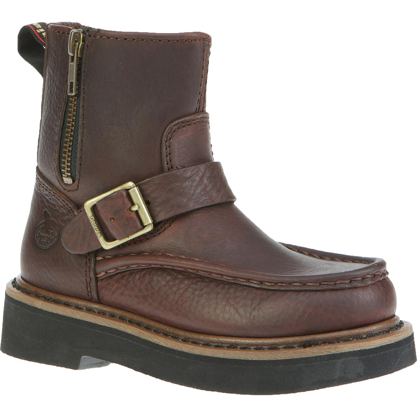 Georgia Boot Kids Side Zip Wellington Boot With Strap
