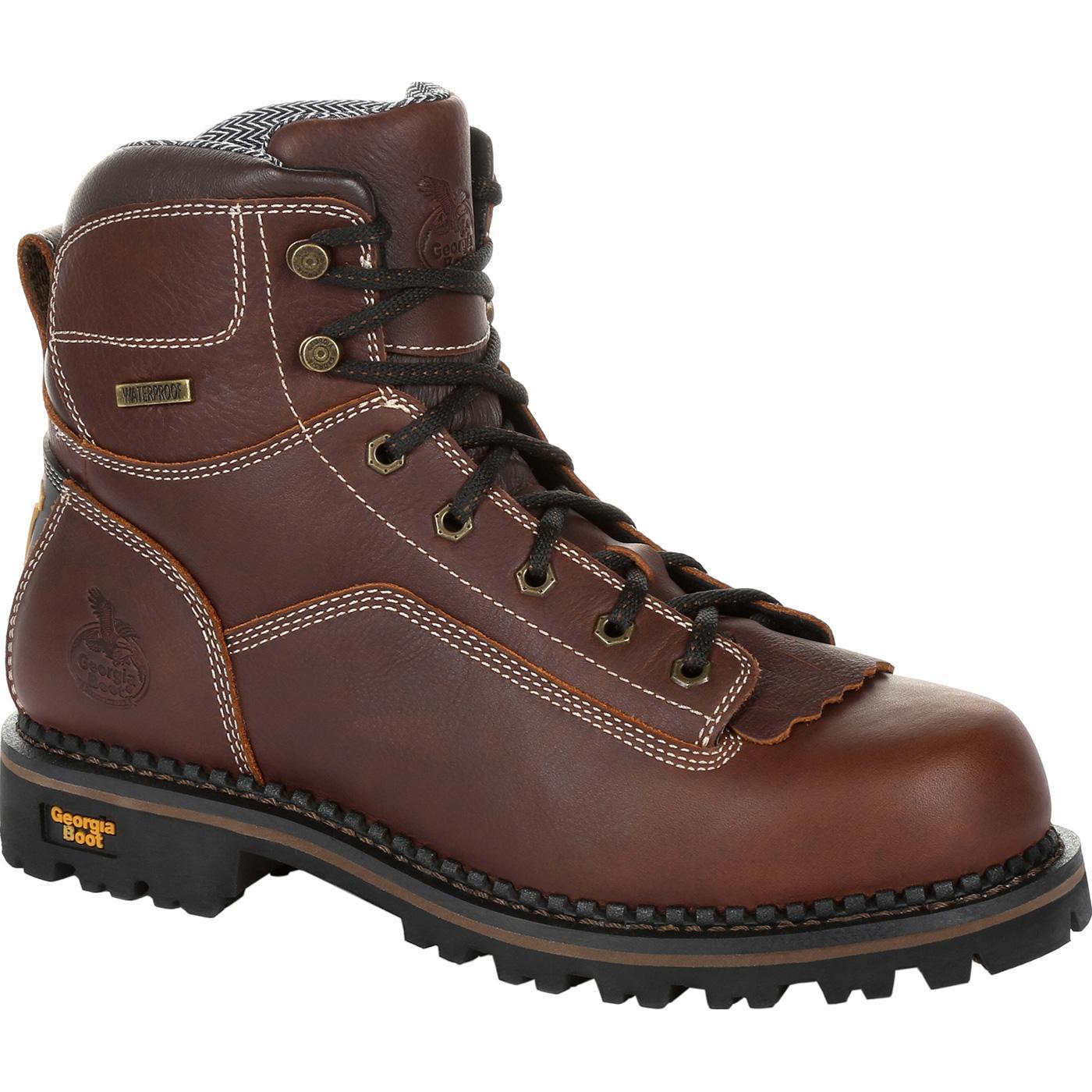 a3a9081dc45 Georgia Boot AMP LT Logger Low Heel Waterproof Work Boot