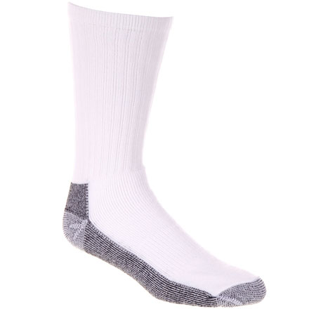 Georgia Boot Reinforced Crew Sock, WHITE, large