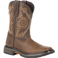 Georgia Boot Carbo-Tec Little Kids Brown Pull on Boot, , medium