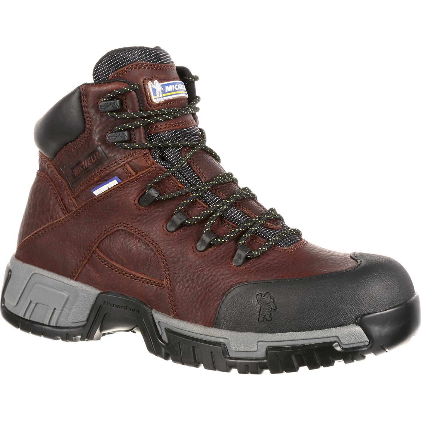 376241d37cbf9e Michelin HydroEdge Steel Toe Waterproof Work Boot