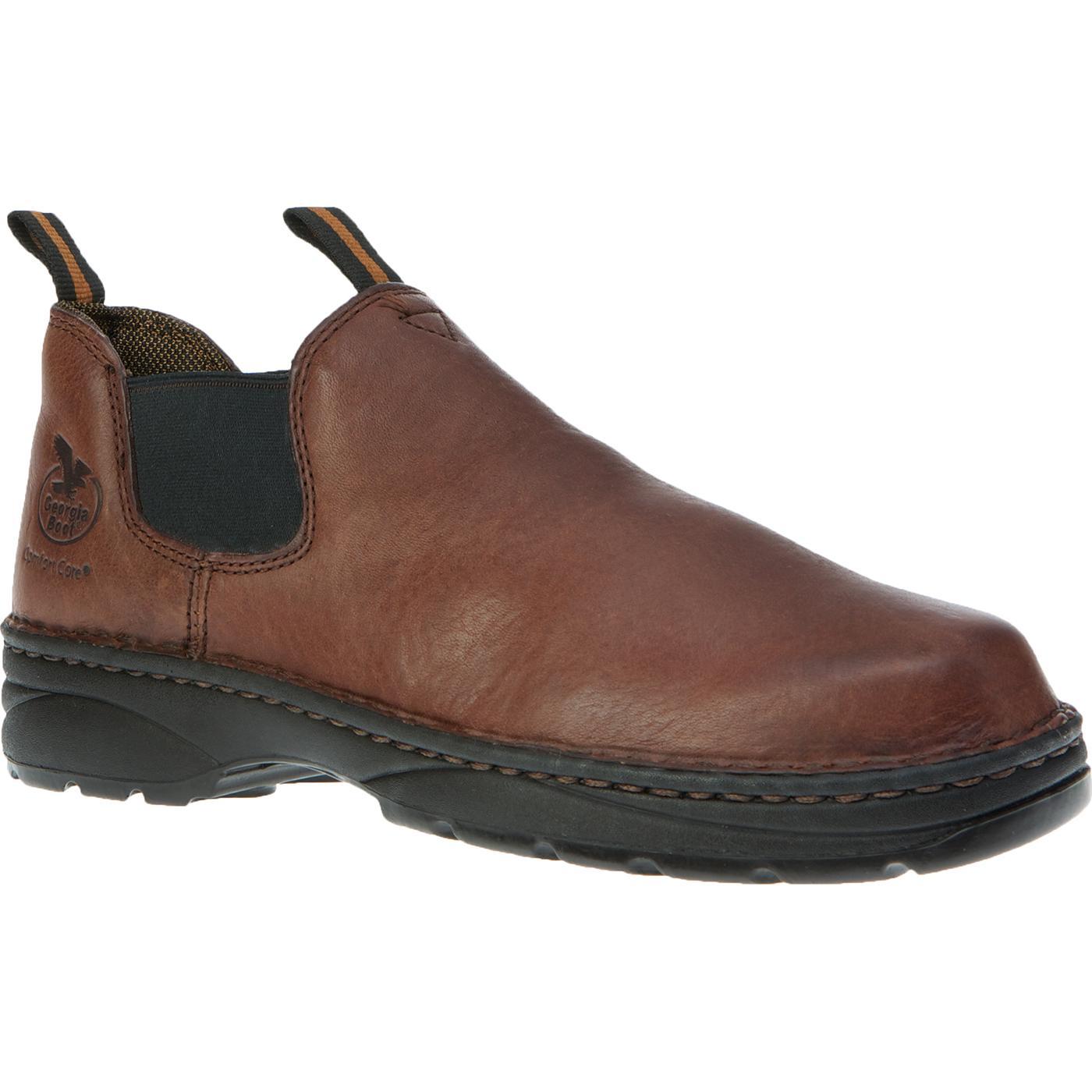 Georgia Boot Eagle Light Men S Romeo Slip On Work Shoes