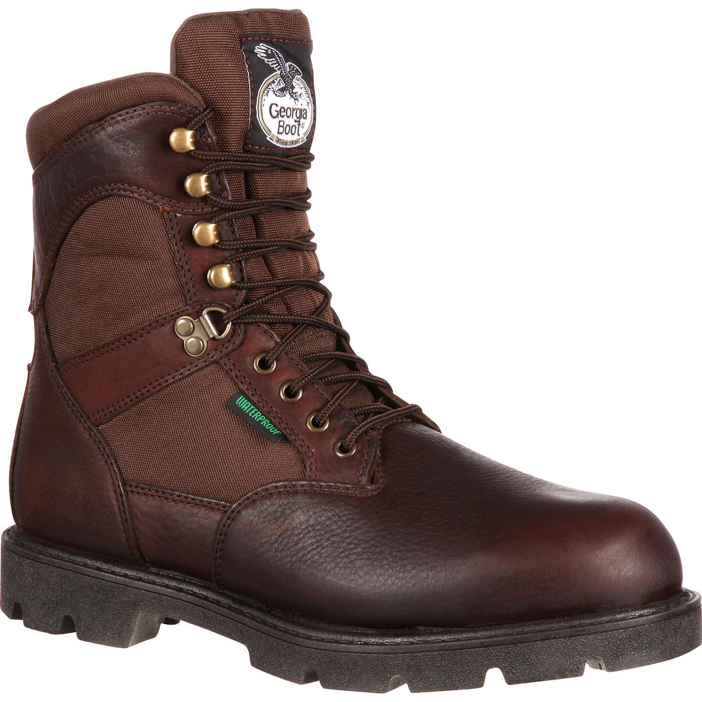 a11a697331a7 Georgia Boot Homeland Waterproof Insulated Work Boot