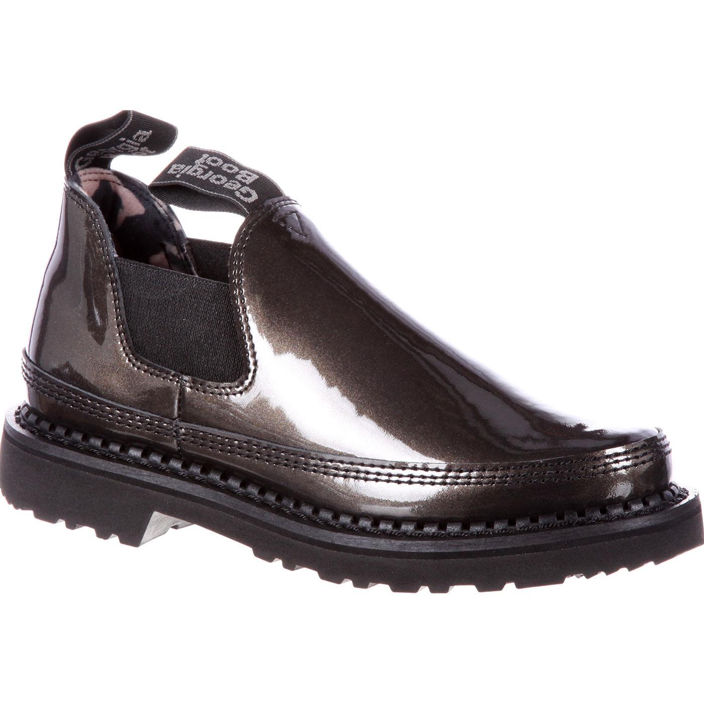 Georgia Giant Women S Black Patent Leather Romeo Shoes