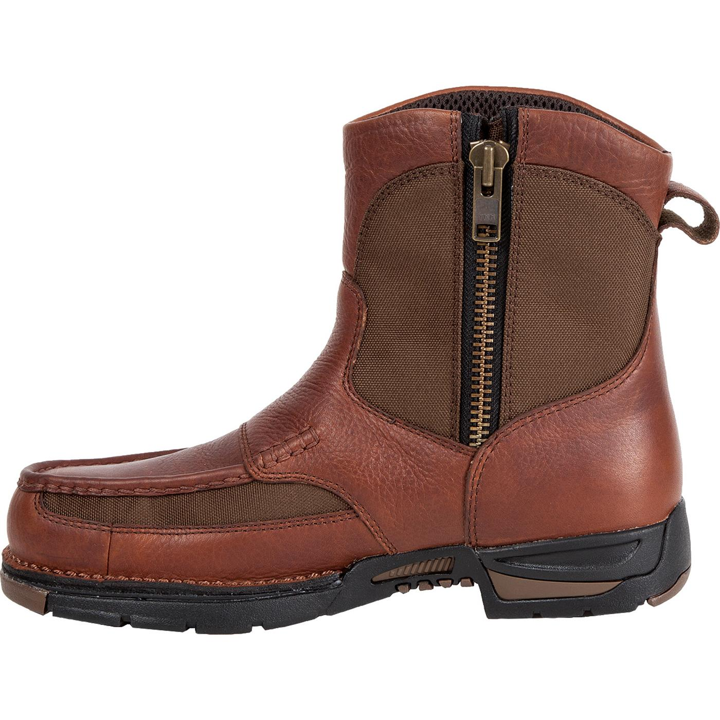 Georgia Athens Waterproof Pull On Side Zipper Work Boots