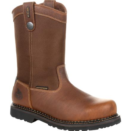 Georgia Giant Revamp Steel Toe Waterproof Pull-On Work Boot, , large