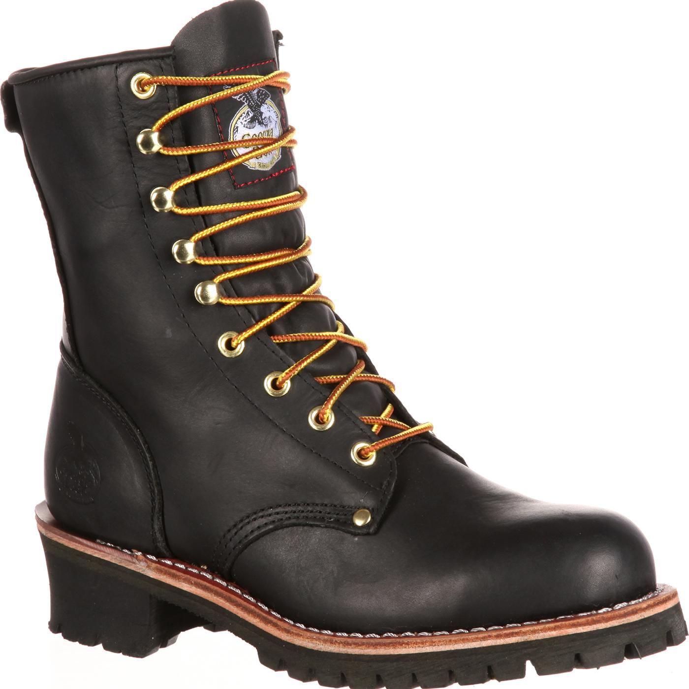 Georgia Boot Men S 8 Quot Black Logger Work Boots Style G8120