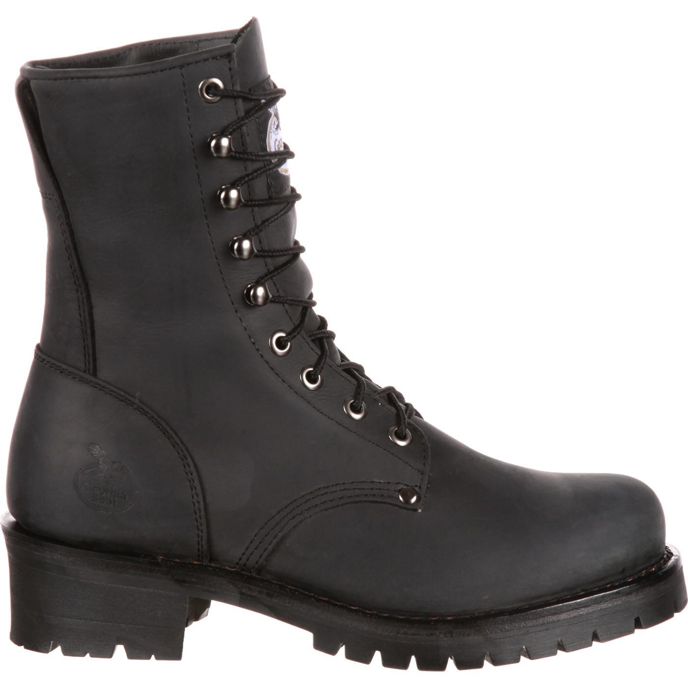 Georgia Boot Men S Black Logger Work Boot Style Gb00047