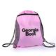 Georgia Boot Logo Pink Drawstring Bag, , small