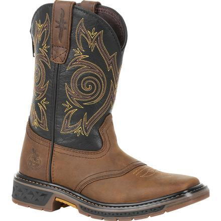 Georgia Boot Carbo-Tec Little Kids Pull-On Saddle Boot