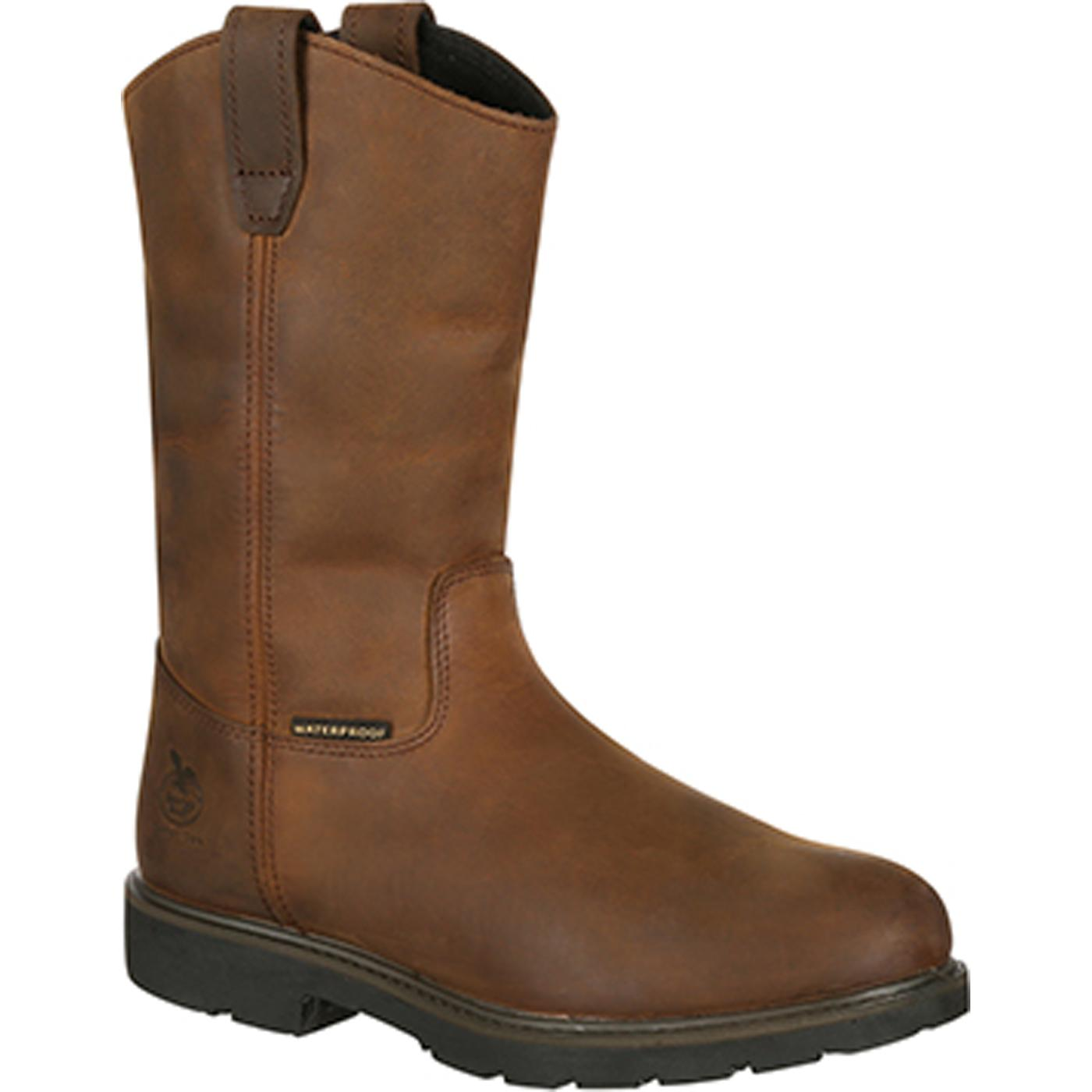 eea33724d7f Georgia Boot Suspension System Steel Toe Waterproof Wellington Work Boot