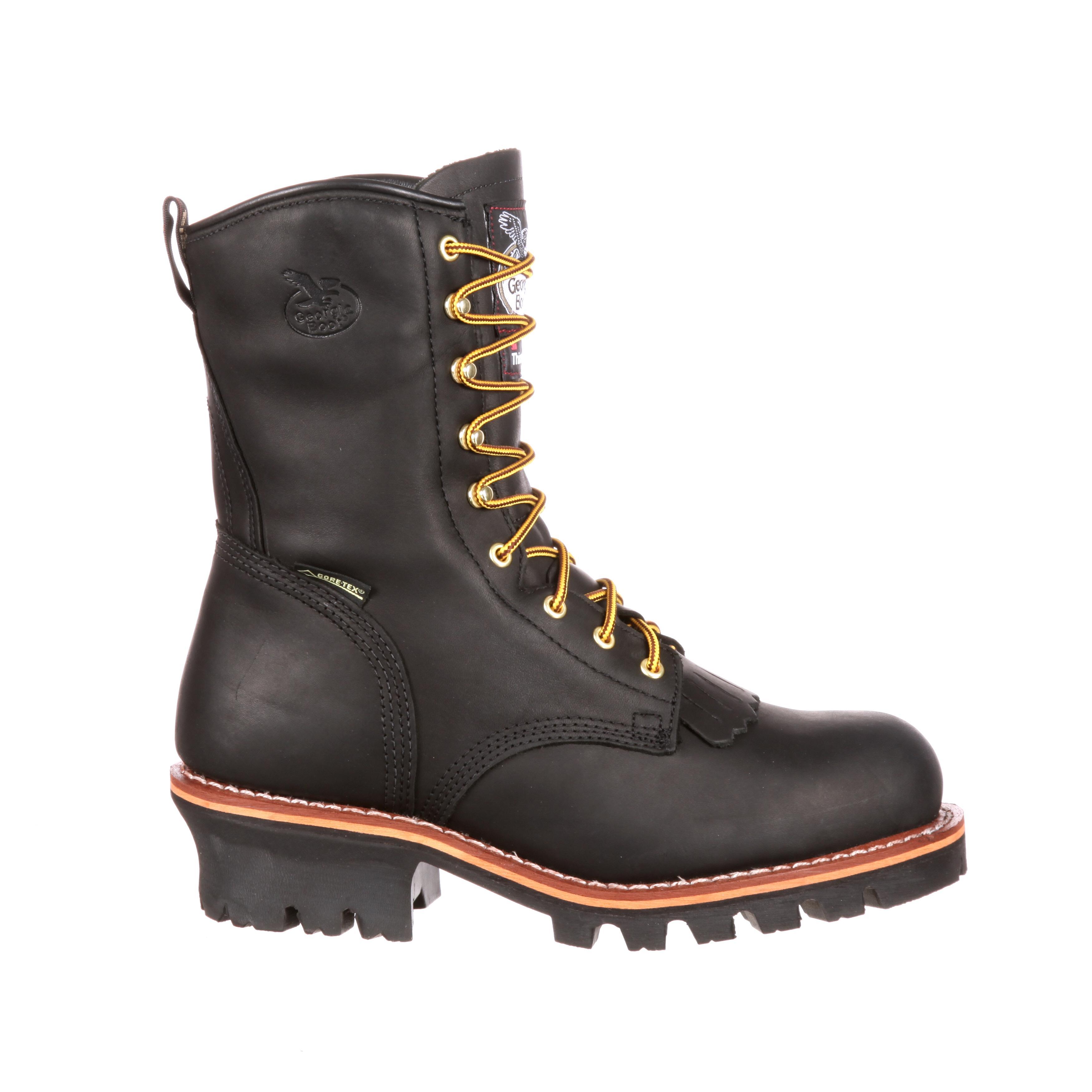 Men S 8 Quot Gore Tex 174 Steel Toe Logger Work Boots Georgia