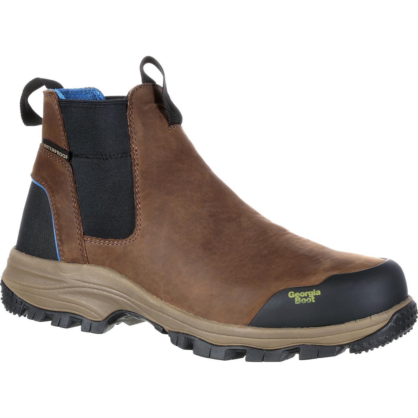 Georgia Boot Blue Collar Waterproof Romeo Pull On Work Boot