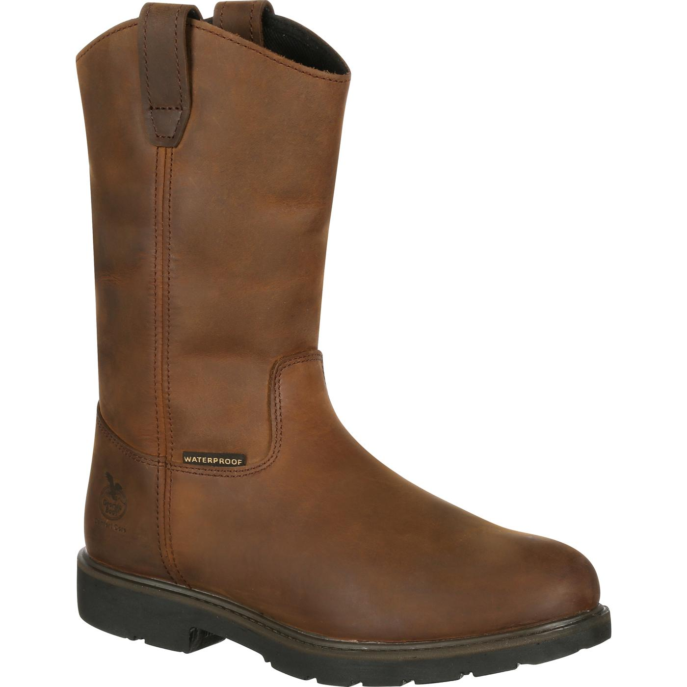 "Georgia GB00085 11"" Suspension System Waterproof Pull On Wellington Work Boots"