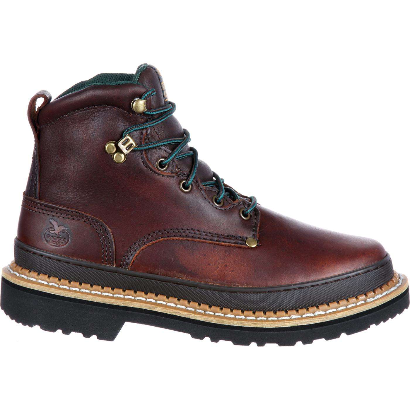 boot s 6 quot brown leather work boot g6274