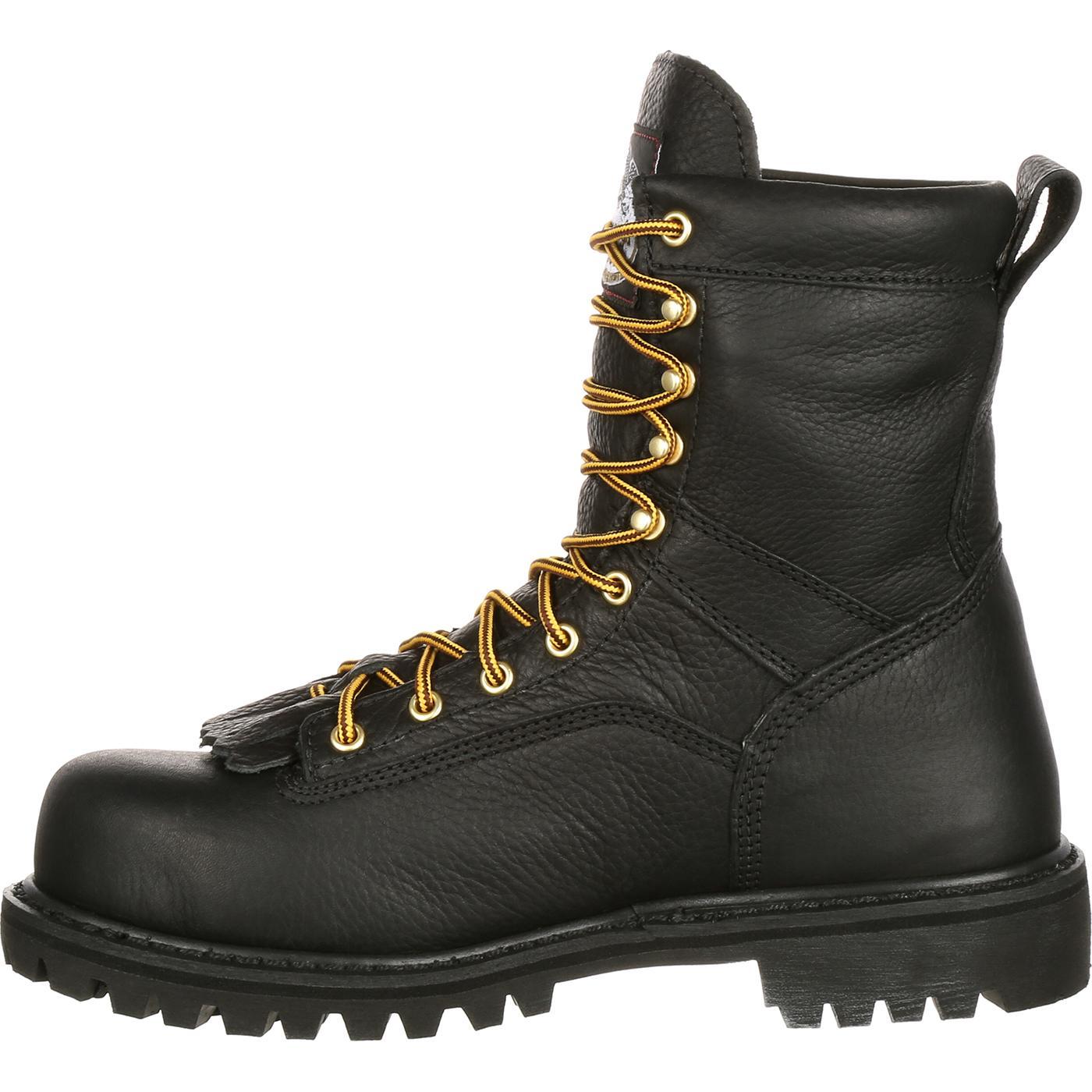 Men's Georgia Boot G8010 Low-Heel Logger, Size: 12 M, Black