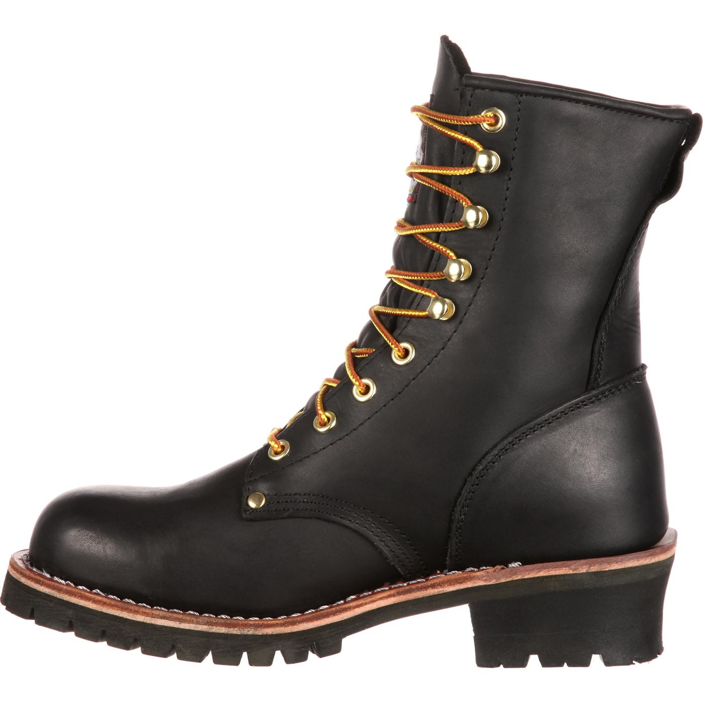 77844867698 Georgia Boot  Men s Steel Toe Black Logger Work Boot - Style  G8320