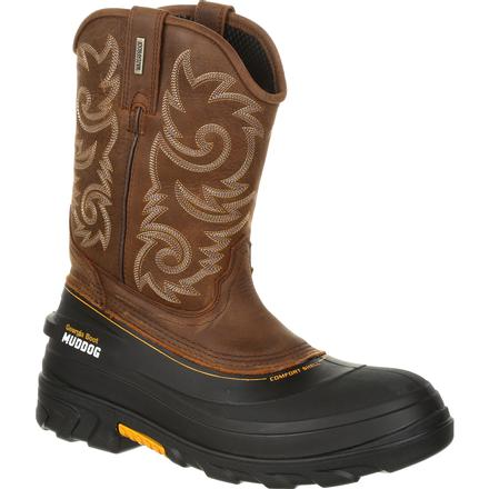 Georgia Boot Muddog Waterproof Western Work Wellington, , large