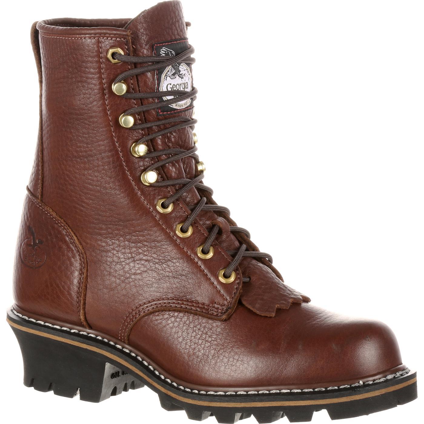 Georgia Boot Men S Brown Logger Work Boot Style Gb0095ia