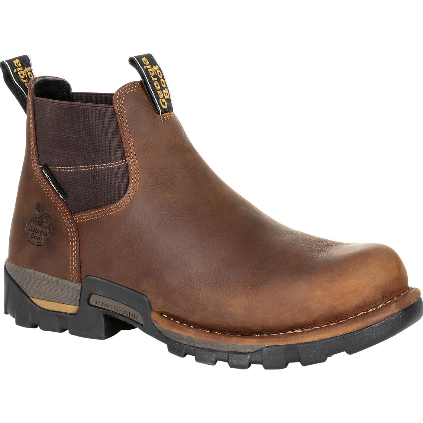 e2cda2181f6 Georgia Boot Eagle One Steel Toe Waterproof Chelsea Work Boot