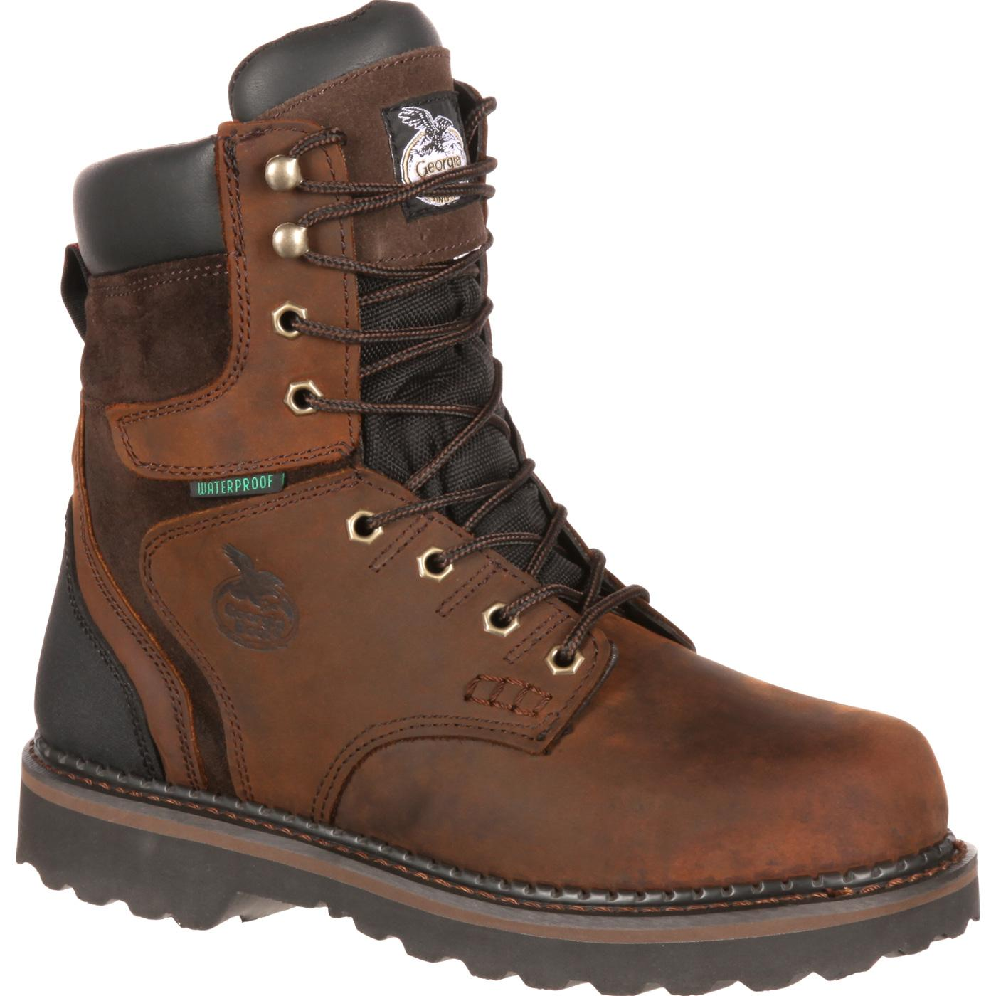 "Georgia Boot: Men's 8"" Brookville Waterproof Work Boots ..."