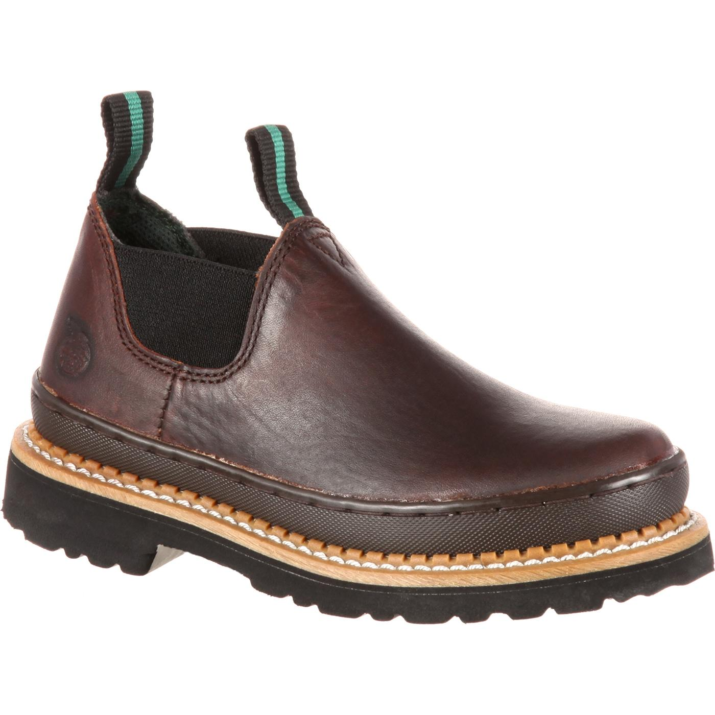 Georgia Boot Infants Romeo Leather Slip On Shoes Gr14