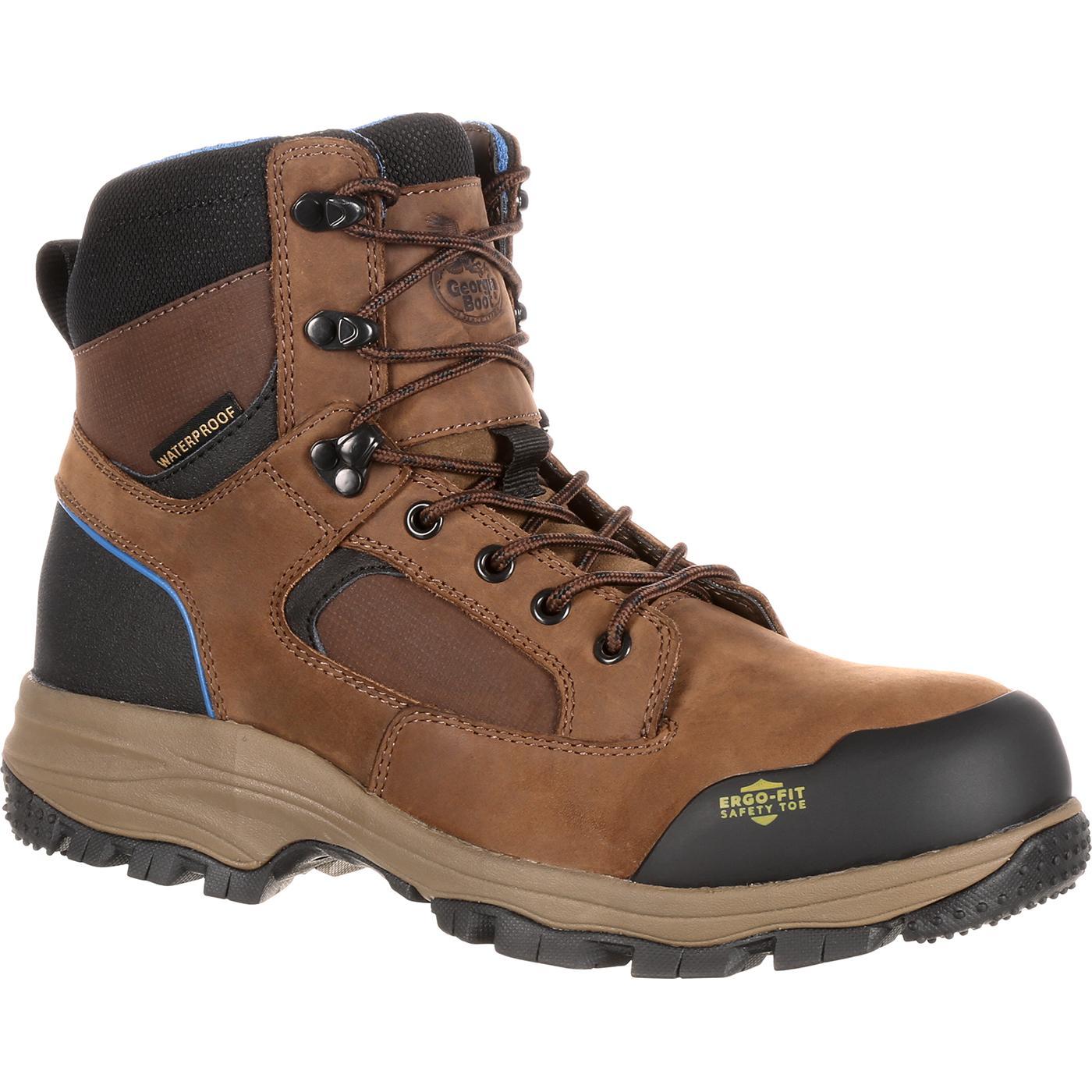 55c5bd9844a Georgia Boot Blue Collar Composite Toe Waterproof Work Hiker