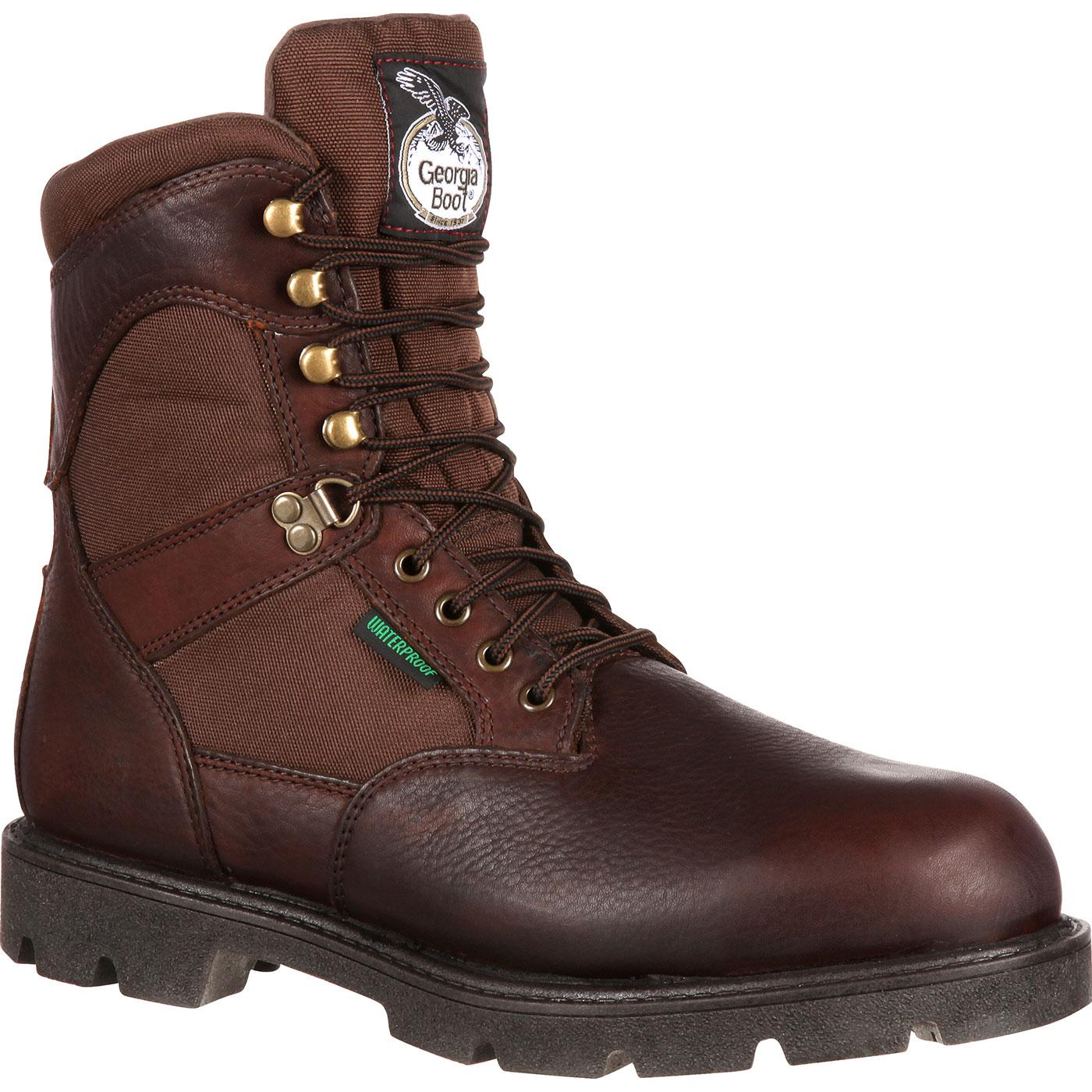Georgia Homeland Steel Toe Waterproof Insulated Boot, #G110