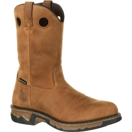Georgia Boot Carbo-Tec Waterproof Work Wellington, , large