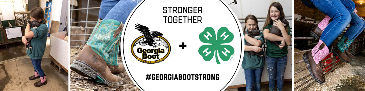 Stronger Together, Georgia Boot & 4-H, #GeorgiaBootStrong